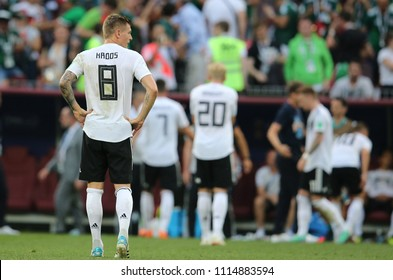 17.06.2018. Moscow, Russian: Germany disappoint  at end of  the Fifa World Cup Russia 2018, Group F, football match between GERMANY v MEXICO in Luzhniki Stadium  in Moscow.