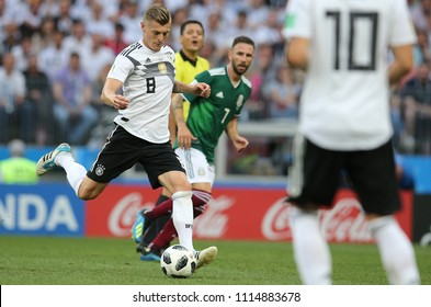 17.06.2018. Moscow, Russian: Kroos in action during the Fifa World Cup Russia 2018, Group F, football match between GERMANY v MEXICO in Luzhniki Stadium  in Moscow.