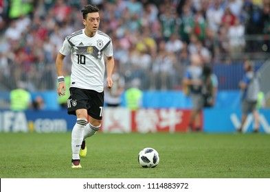 17.06.2018. Moscow, Russian: Oezil in action during the Fifa World Cup Russia 2018, Group F, football match between GERMANY v MEXICO in Luzhniki Stadium  in Moscow.