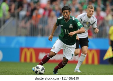 17.06.2018. Moscow, Russian: Vela  in action during the Fifa World Cup Russia 2018, Group F, football match between GERMANY v MEXICO in Luzhniki Stadium  in Moscow.