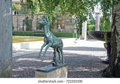 17/08/2013 - Animal sculpture in Millesgarden, sunny day, Stockholm, Sweden