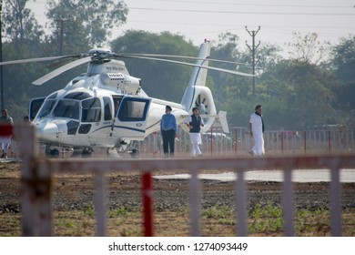 17-11-2019 Bhopal, M.P, India  jyotiraditya sindhiya coming out from chopper in cm kamal nath oath ceremony Jamburi Ground bhopal