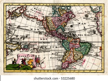 1730 Wiegel Map of the Americas showing California as an Island