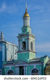 In 1748 Greek colonists founded a monastery at this place. Contract Square (Kontraktova Square) in Kiev, Ukraine. The building currently hosts branch of the National Bank of Ukraine.
