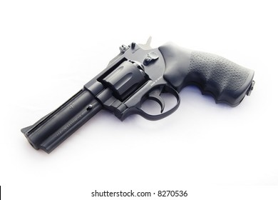 .177 Service revolver on white background