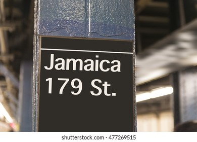 179 Street subway sign in New York City Manhattan station.