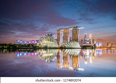 17/9/19 Sunset at Gardens by the bay and Marina Bay sand