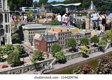 17-July 2018. Miniature attraction park Madurodam in The Hague, Netherlands, South Holland, Europe. Netherlands in miniature in the Madurodam open air museum.