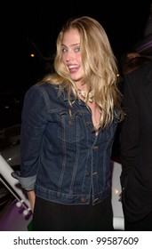17MAY2000:  Sports Illustrated model ESTELLA WARREN at a party for Victoria's Secret models on a private yacht in Cannes.  Paul Smith/Featureflash