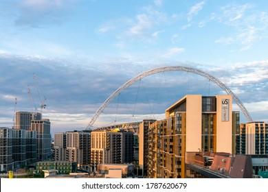 17th June 2020 - London, UK. Early morning scene of Wembley Stadium, Wembley Park.