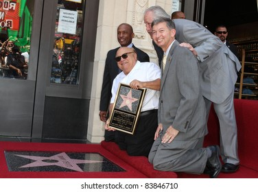 18 August 2011 - Hollywood, California - Danny DeVito, Leron Gubler and Councilman Tom Labonge. Danny DeVito Honored On The Hollywood Walk Of Fame Held On Hollywood Blvd. Photo: Kevan Brooks/AdMedia