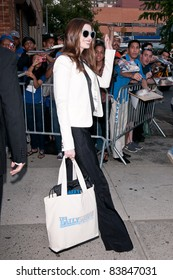 "18 August 2011 - New York City, NY - Anne Hathaway. ""The Daily Show"" Arrivals. Photo Credit: Christopher Smith/AdMedia"