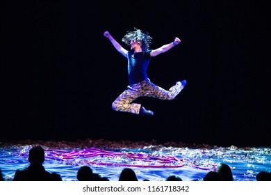 18 AUGUST 2018, A CAMPINGFLIGHT TO LOWLANDS PARADISE FESTIVAL, BIDDINGHUIZEN THE NETHERLANDS. Performance of Sergei Polunin