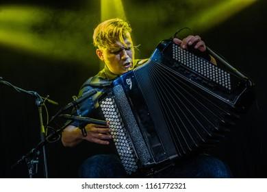 18 AUGUST 2018, A CAMPINGFLIGHT TO LOWLANDS PARADISE FESTIVAL, BIDDINGHUIZEN THE NETHERLANDS. Concert of Mario Batkovic