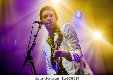 18 AUGUST 2018, A CAMPINGFLIGHT TO LOWLANDS PARADISE FESTIVAL, BIDDINGHUIZEN THE NETHERLANDS. Concert of Miles Kane