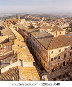 18 OCTOBER 2018, MONTEPULCIANO, ITALY: Cityscape view of the Old Tuscany town of Montepulciano, Italy