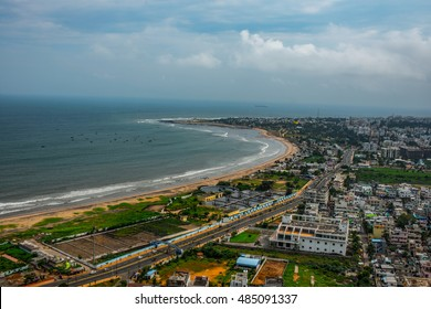 18 September 2016,Visakhapatnam India:Beach and City Travel Destination Vacation Tropical Concept