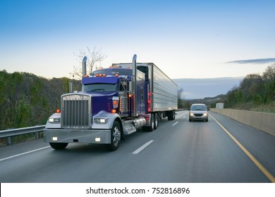 18 wheeler truck on highway