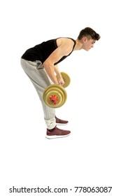 18 year old teenage boy doing exercise