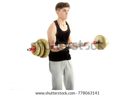 18 year old teenage boy doing exercise
