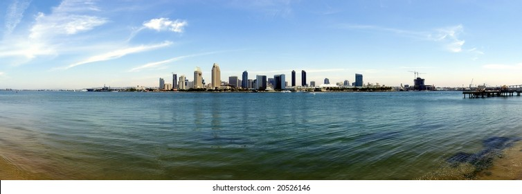 180 deg. panorama view of San Diego Downtown and Bay