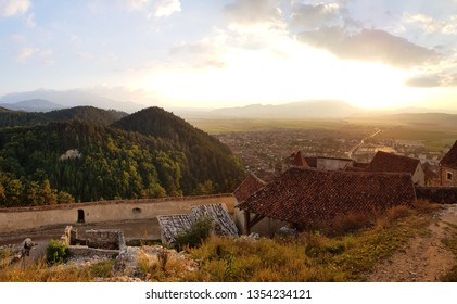 18-09-2018,view of the  carpathians mountanis from the citadel of Rasnov.Rumania
