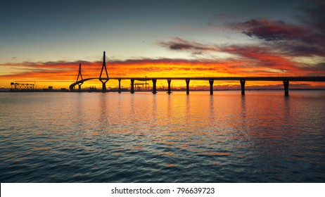1812 Constitution Bridge at Dawn Cadiz Spain