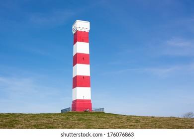 The 1832 daymark at Gribben Head near Polridmouth Cornwall England UK Europe
