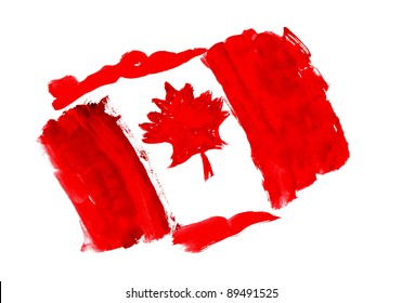 1867  Flag of Canada Day July 1  drawing watercolor