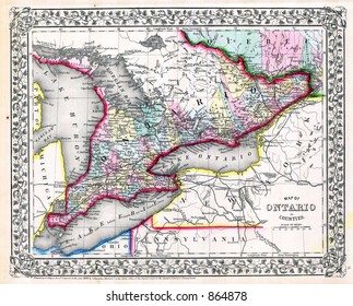 Map Of Canada 1870.Antique Map Canada Stock Photos Images Photography Shutterstock