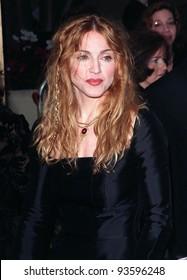 18JAN98:  Actress/pop star MADONNA at the Golden Globe Awards.