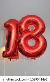 18th birthday balloon.