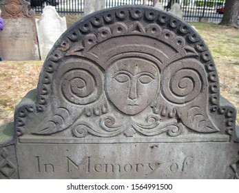 18th century gravestone in Springfield, Massachusetts