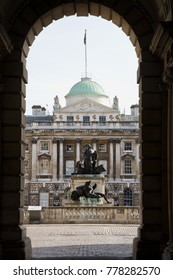18th Century palace, Somerset House in Central London, England, UK.