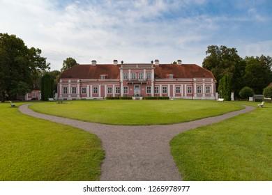 18th century rococo-style Sagadi manor in Northern Estonia, summertime.
