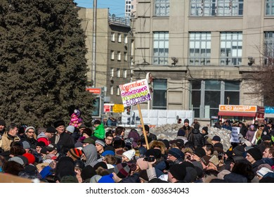 19 Mar 2017. Russia. Novosibirsk. Meeting against increase of tariffs with the participation of Alexei Navalny.