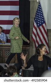 19 September 2016 - Philadelphia,USA - Secretary of State Hillary Clinton campaign rally at Temple Uniersity Philadelphia.