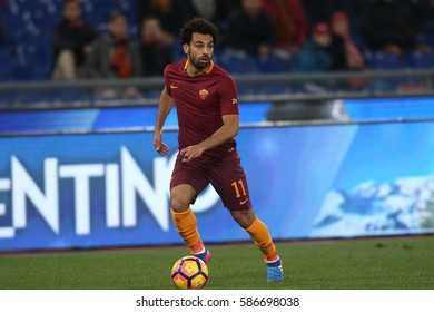 19.02.2017. Stadio Olimpico, Rome, Italy. Serie A Football. Roma versus Torino. Mohamed Salah in action during the match Roma vs Torino in Olimpic Stadium in Rome.