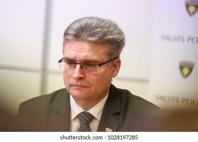 19.02.2018. RIGA, LATVIA. Press conference about  Latvian central bank governor Ilmars Rimsevics detention at The Corruption Prevention and Combating Bureau (KNAB)