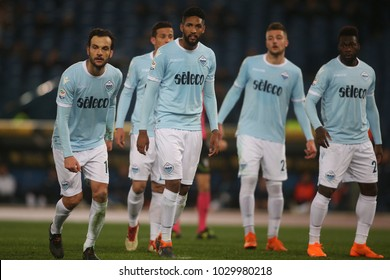 19.02.2018. Stadio Olimpico, Rome, Italy. Serie A. SS Lazio vs Hellas Verona.Lazio team in action during the match Lazio vs Verona at Stadio Olimpico in Rome.