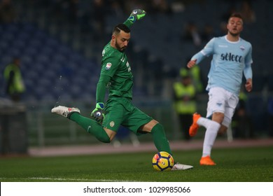 19.02.2018. Stadio Olimpico, Rome, Italy. Serie A. SS Lazio vs Hellas Verona. Nicolas David Andrade in action during the match Lazio vs Verona at Stadio Olimpico in Rome.