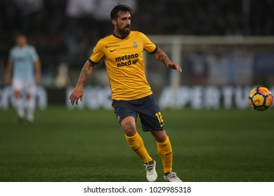 19.02.2018. Stadio Olimpico, Rome, Italy. Serie A. SS Lazio vs Hellas Verona. Caracciolo in action during the match Lazio vs Verona at Stadio Olimpico in Rome.