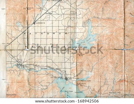 1903 Folded Map Rathdrum Prairie Idaho Stock Photo Edit Now