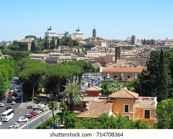 19.06.2017, Rome, Italy, Europe: Great historic sityscape seen from Aventine hill