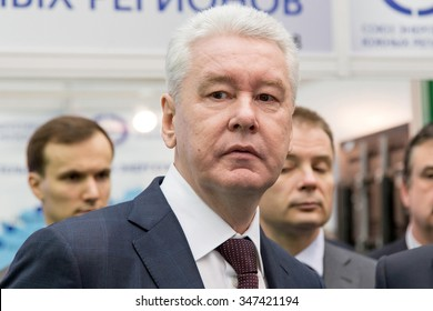 19.11.2015. RUSSIA, MOSCOW. Moscow Mayor Sergei Sobyanin at the International Forum ENES  2015.