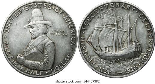 1920 Pilgrim Half Dollar Commemorative US Coin