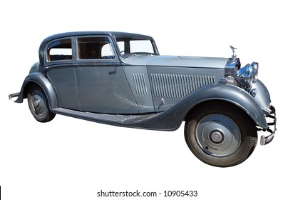 1934 Rolls Royce isolated with clipping path