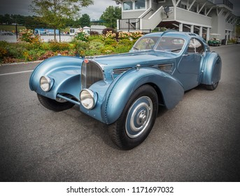 1936 Bugatti Type 57SC Atlantic at the Limerock, Conn. USA concours on Sunday, Sept. 2, 2018 - $ 40,000,000 car