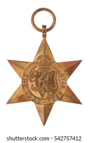 The 1939-1945 Star Second World War Medal without ribbon isolated on white with clipping path