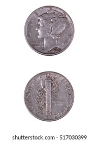 1944 Mercury Dime or Winged Liberty Head Dime